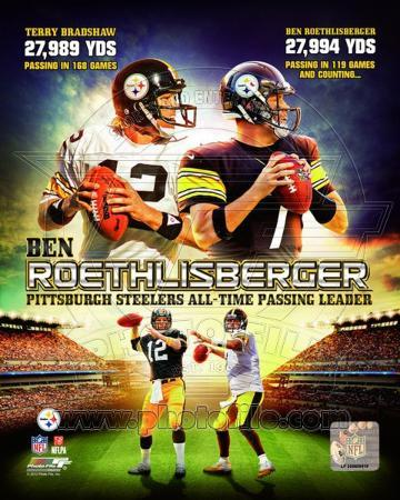 NFL Ben Roethlisberger Pittsburgh Steelers All-time Passing Leader Composite