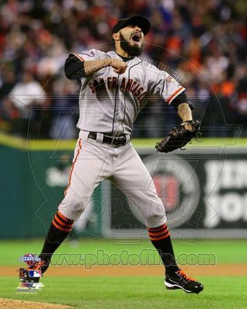MLB Sergio Romo Celebrates Winning Game 4 of the 2012 World Series