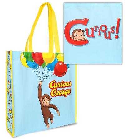 Curious George Large Recycled Shopper Tote Bag