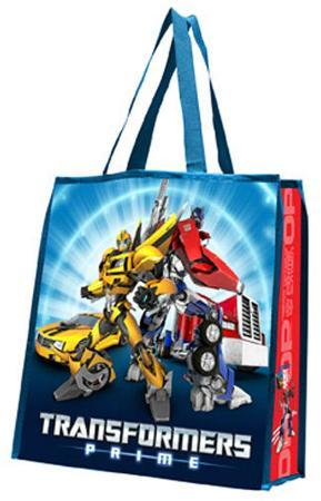 Transformers Prime Large Recycled Shopper Tote Bag