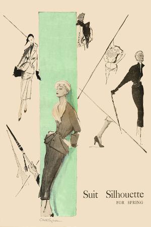 1950's Fashion - Suit Silouhette