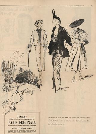 1950's Fashion - Paris Originals