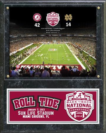Alabama Crimson Tide 2012 Championship Plaque