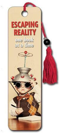 Escaping Reality One Book at a Time Beaded Bookmark