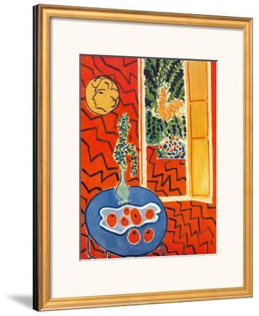 Red Interior, Still Life on Blue Table, c.1947