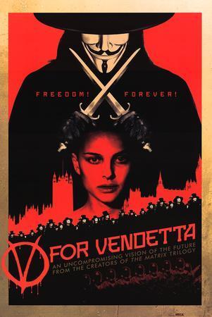 V for Vendetta - Red Movie Poster