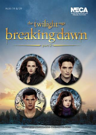 Twilight Breaking Dawn Part 2 - Edward, Bella, Jacob and Renesme Badge Pack
