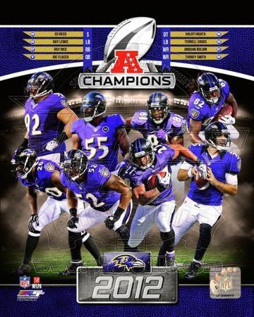 Baltimore Ravens 2012 AFC Champions Composite