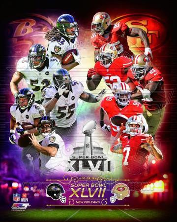 Super Bowl XLVII Match Up Composite