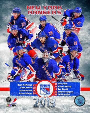 New York Rangers 2012-13 Team Composite
