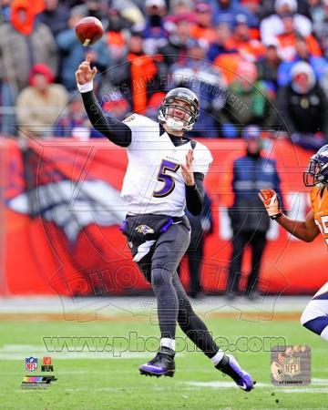 Joe Flacco 2012 AFC Divisional Playoff Game Action