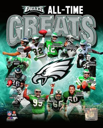 Philadelphia Eagles All Time Greats Composite