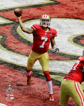Colin Kaepernick Super Bowl XLVII Action