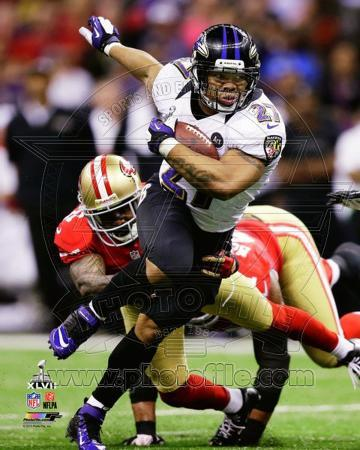 Ray Rice Super Bowl XLVII Action