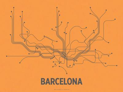 Barcelona (Orange & Gray)