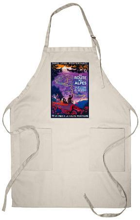 La Route Des Alpes Vintage - Europe Apron
