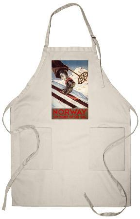 Norway - The Home of Skiing Apron