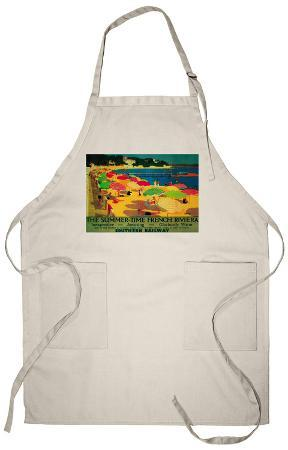 Summertime French Riviera Vintage - Europe Apron