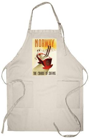 Norway - The Cradle of Skiing Apron