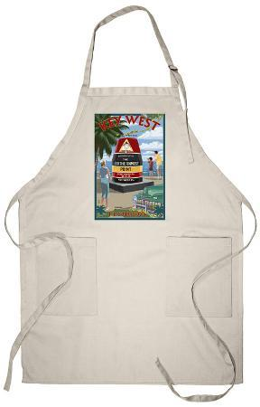 Key West, Florida - Southernmost Point Apron