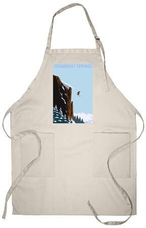 Skier Jumping - Steamboat Springs, Colorado Apron