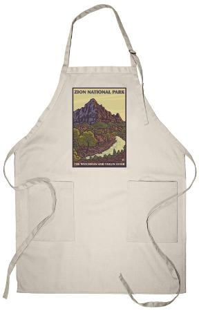 The Watchman, Zion National Park, Utah Apron
