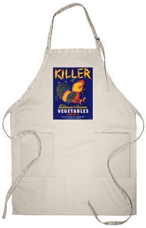Killer Vegetable Label - Los Angeles, CA Apron