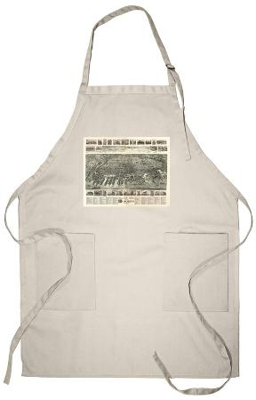 Hoboken, New Jersey - Panoramic Map Apron