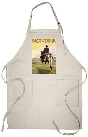 Cowboy & Horse, Montana Apron