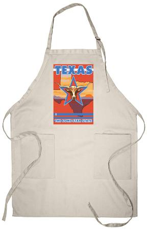 Texas, The Lone Star State, Longhorn Bull Apron