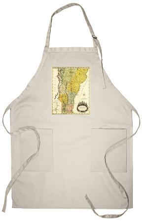 Vermont - Panoramic Map Apron