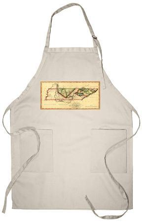 Tennessee - Panoramic Map Apron