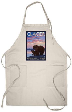 Bear and Cub, Glacier National Park, Montana Apron