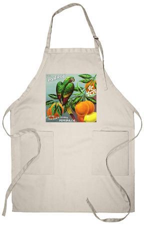 Pomona, California, The Parrot Brand Citrus Label Apron