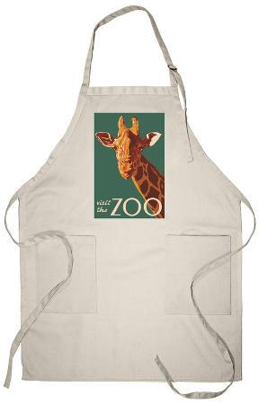 Visit the Zoo, Giraffe Up Close Apron