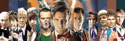 Doctor Who Doctors Collage Panorama