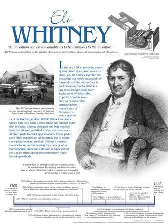 Eli Whitney - Educational Poster