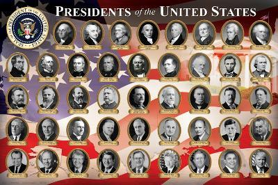 Presidents of the United States (2013 Edition) Educational Poster Print