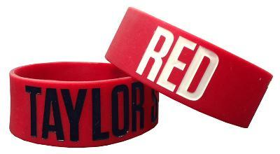 Taylor Swift RED Rubber Bracelet