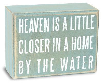Heaven is a Little Closer Box Sign