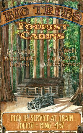 Big Trees Cabin Lodge Vintage