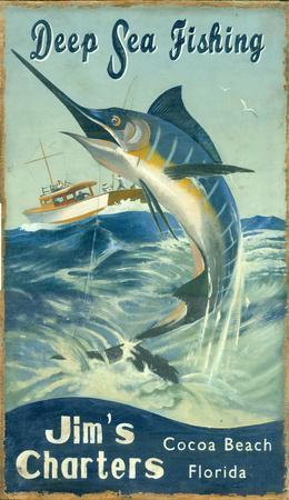 Marlin Fishing Vintage