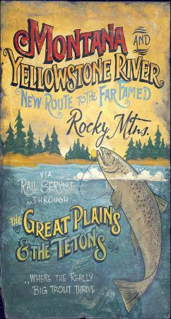 Montana Fishing Lodge Vintage