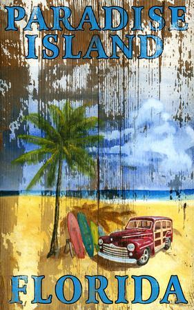 Beach Palm Vintage