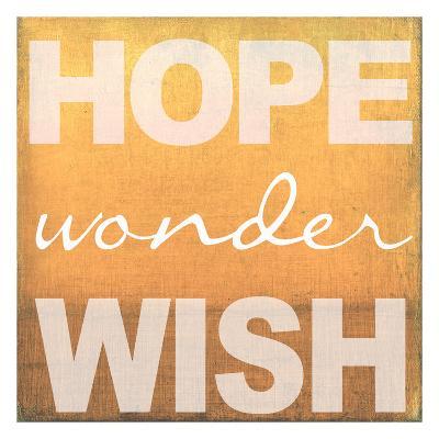 Hope Wonder Wish Orange