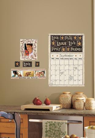 Family and Friends Peel & Stick Dry Erase Calendar Wall Decal
