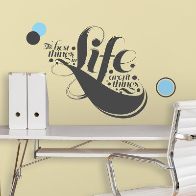 55 High - The Best Things in Life Peel & Stick Giant Wall Decals