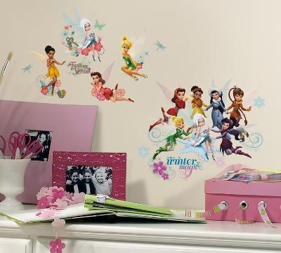 Disney Fairies - Secret of the Wings Peel & Stick Glitter Wall Decals