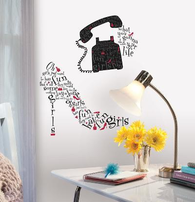 Girls Just Wanna Have Fun Peel & Stick Giant Wall Decals