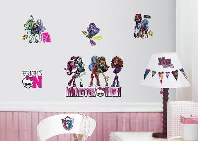 Monster High Peel & Stick Wall Decals